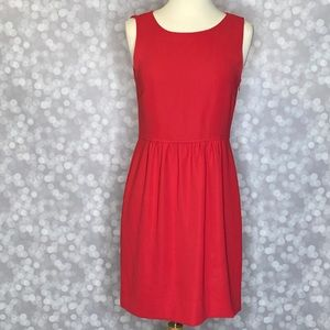 J. Crew Solid Red Dress Size 2 Sleeveless